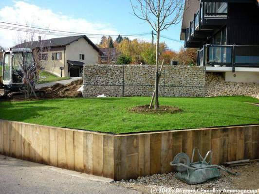 aménagements Piscines Haute Savoie # Mur De Soutenement En Bois Traité