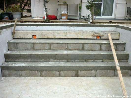 Escaliers b ton piscines haute savoie - Dalle d emmarchement ...
