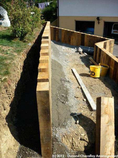 murs de sout u00e8nement en bois Aménagements Haute Savoie # Mur Soutenement Rondin Bois